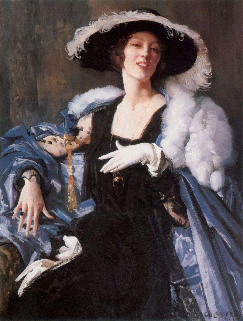 The White Glove   George Lambert   oil painting