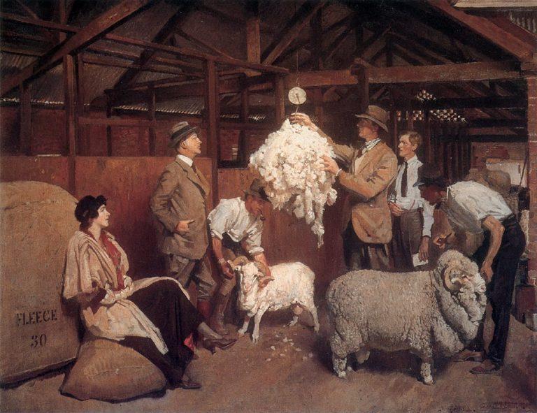 Weighing the Fleece | George Lambert | oil painting
