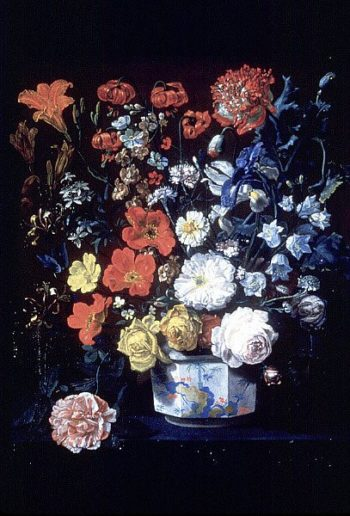 Flowers in a Chantilly Vase | Louis Tessier | oil painting