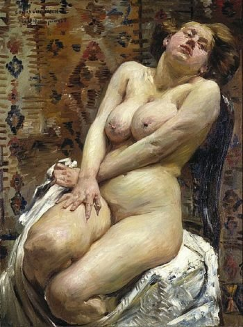 Nana Female Nude | Lovis Corinth | oil painting