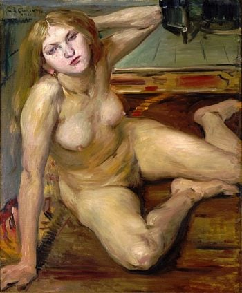 Nude Girl on a Rug | Lovis Corinth | oil painting