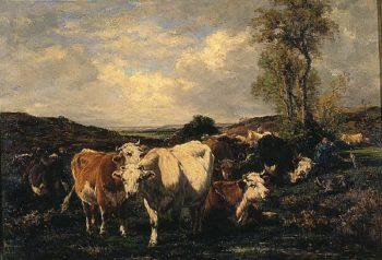 Herd | Marie Dieterl | oil painting