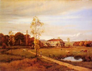 Le Petit Moulin Pres Jonvelle Hte Saone   Jean Ferdinand Monchablon   oil painting