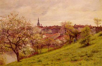 Le Printemps Amiens   Jean Ferdinand Monchablon   oil painting