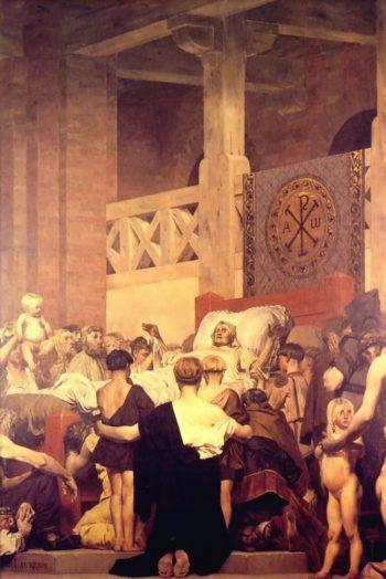 Death of Saint Genevieve (center panel) | Jean Paul Laurens | oil painting