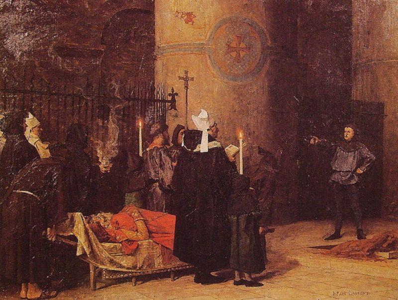 Funeral of William the Conqueror | Jean Paul Laurens | oil painting