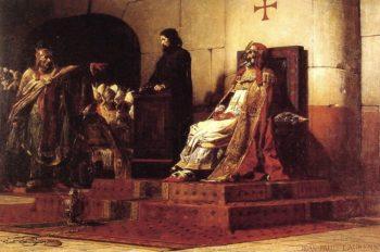 Pope Formosa and Stephen VII | Jean Paul Laurens | oil painting
