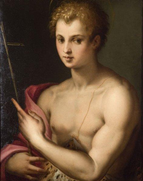 St. John the Baptist   Michele Tosini   oil painting