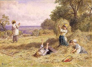 Landscape with Figures | Myles Birket Foster | oil painting