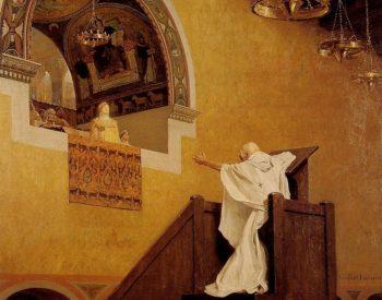 Saint John Chrysostom and Empress Eudoxie | Jean Paul Laurens | oil painting