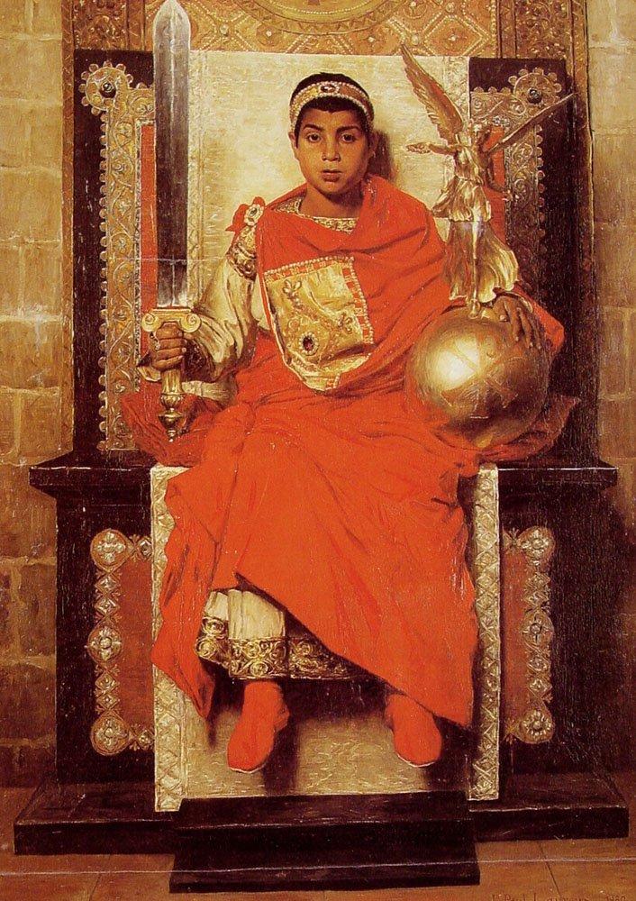 The Byzantine Emperor Honorius | Jean Paul Laurens | oil painting