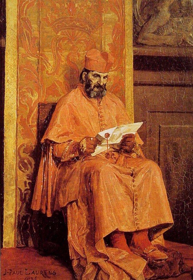The Cardinal | Jean Paul Laurens | oil painting