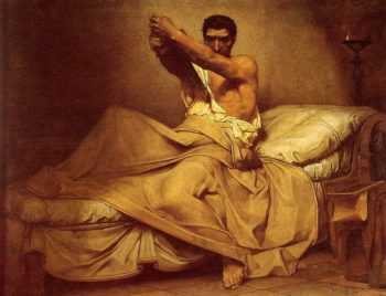 The Death of Caton Utique | Jean Paul Laurens | oil painting