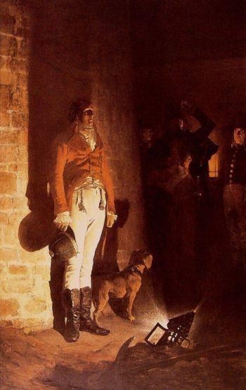 The Death of the Duke of Enghien | Jean Paul Laurens | oil painting