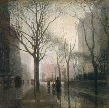 The Plaza After Rain | Paul Cornoyer | oil painting