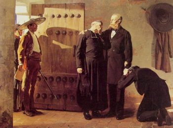 The Last moments of Maximilian Emperor of Mexico | Jean Paul Laurens | oil painting