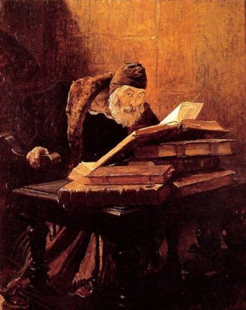 The Old Scientist or the Alchemist | Jean Paul Laurens | oil painting