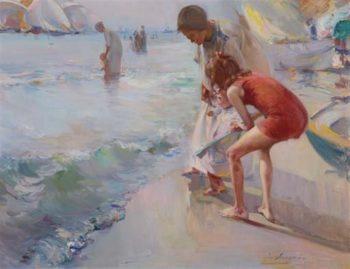 Children Playing 1 | Jose Navarro llorens | oil painting
