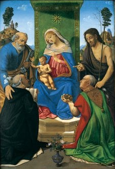 Madonna and Child Enthroned with Saints | Piero di Cosimo | oil painting