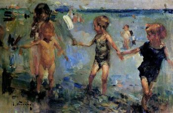 Children Playing | Jose Navarro llorens | oil painting