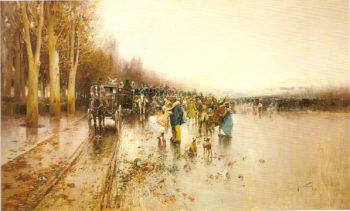 Dia de lluvia | Jose Navarro llorens | oil painting