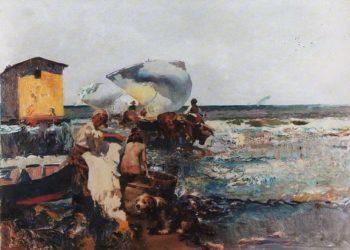 En el puerto 1 | Jose Navarro llorens | oil painting