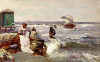 En el  Puerto | Jose Navarro llorens | oil painting