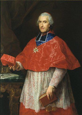 Portrait of Cardinal Jean Francois Joseph de Rochechouart | Pompeo Batoni | oil painting