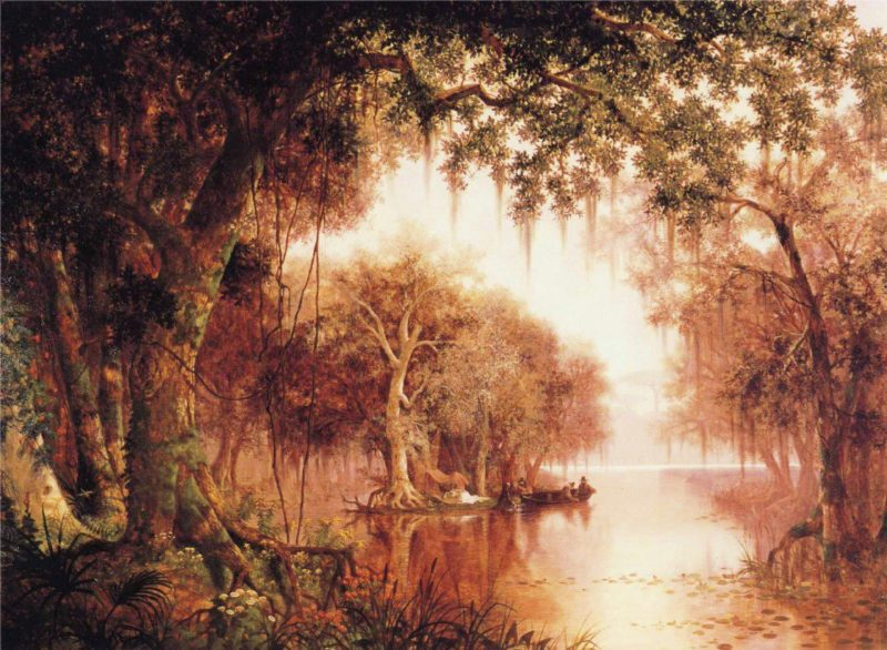 The Land of Evangeline   Joseph R Meeker   oil painting