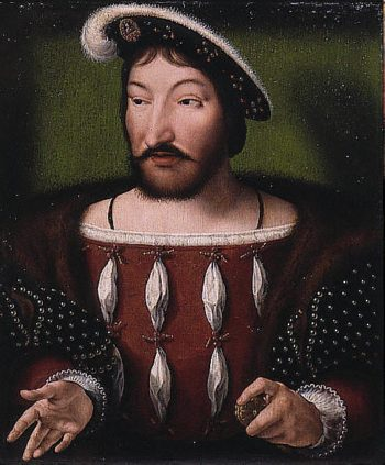 Portrait of King Francis I of France | Unknown Artist | oil painting