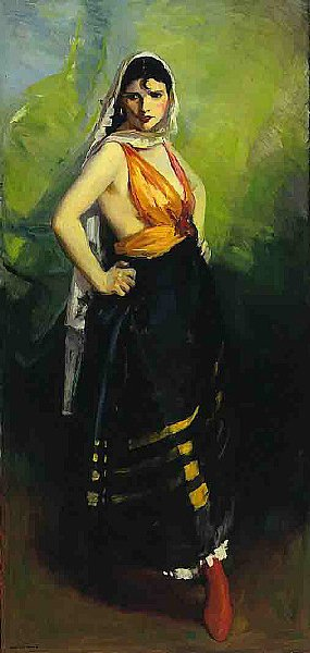 Betalo Rubino Dramatic Dancer | Robert Henri | oil painting