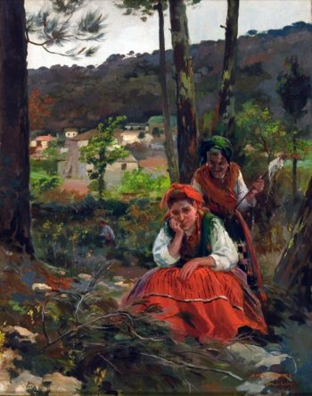 Mujeres en el Campo | Julio Vila Prades | oil painting