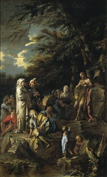 St. John the Baptist Preaching in the Wilderness | Salvator Rosa | oil painting