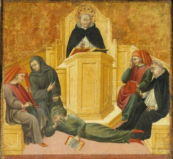St. Thomas Aquinas Confounding Averroes | Unknown Artist | oil painting