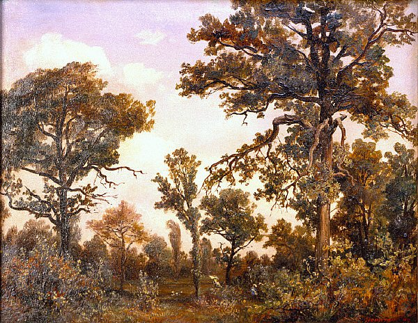 The Large Oak Tree Forest of Fontainebleau | Theodore Rousseau | oil painting