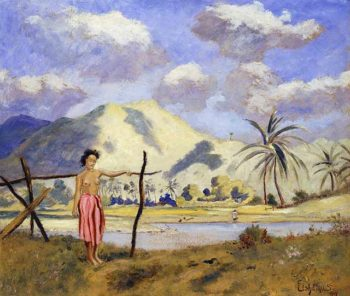 Samoa | Louis M Eilshemius | oil painting