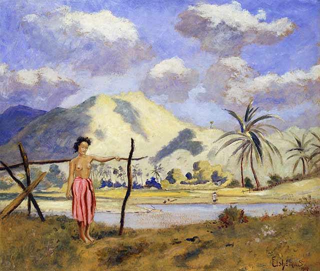Samoa | Louis M Eilshemius | oil painting