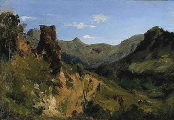 Valley in the Auvergne Mountains | Theodore Rousseau | oil painting