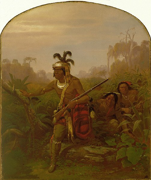 Chief Billy Bowlegs | Karl Ferdinand Wimar | oil painting