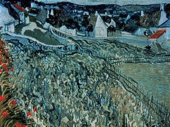 Vineyards at Auvers | Vincent van Gogh | oil painting