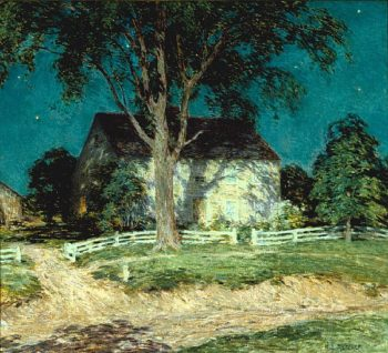 Old Homestead Connecticut | Willard Leroy Metcalf | oil painting