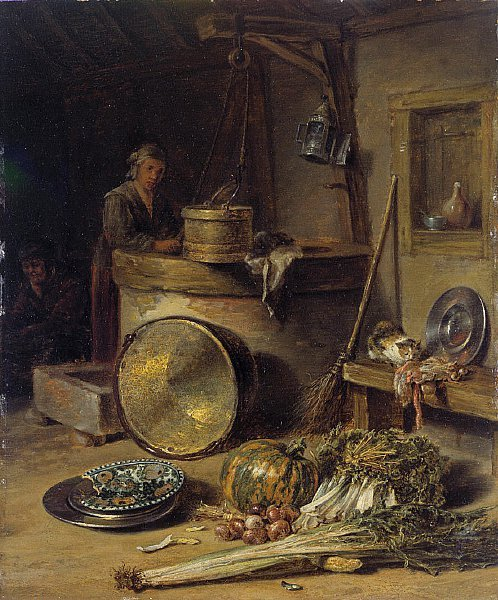 Peasant Interior with Woman at a Well | Willem Kalf | oil painting
