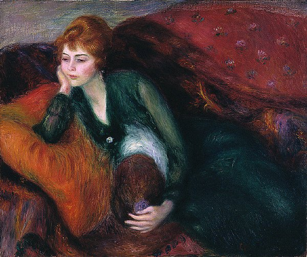 Young Woman in Green | William Glackens | oil painting