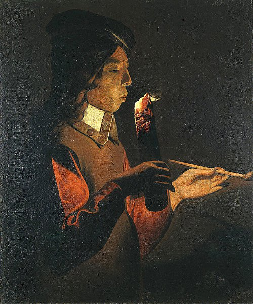 Young Man with a Pipe | Unknown Artist | oil painting