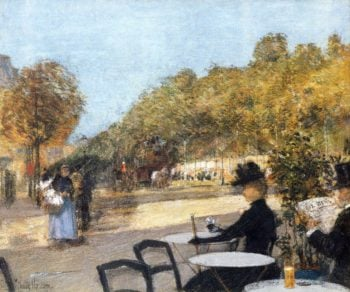 At the Cafe | Frederick Childe Hassam | oil painting