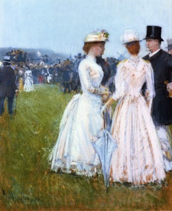 At the Grand Prix in Paris | Frederick Childe Hassam | oil painting