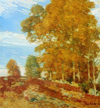 Autumn Hilltop New England | Frederick Childe Hassam | oil painting