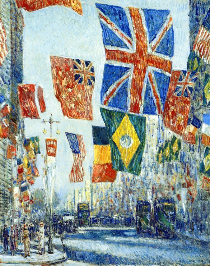 Avenue of the Allies Great Britain 1918 | Frederick Childe Hassam | oil painting
