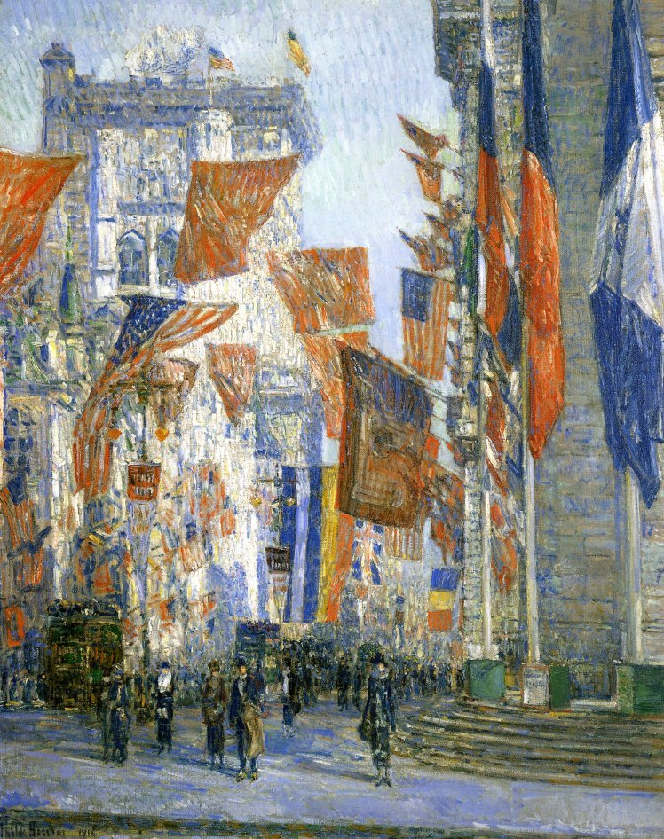 Avenue of the Allies | Frederick Childe Hassam | oil painting