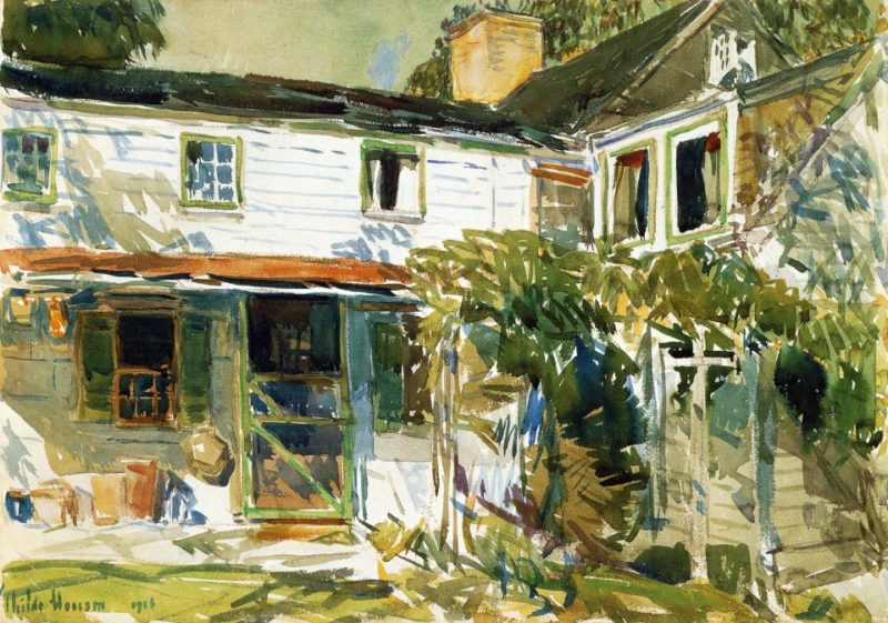 Back of the Old House   Frederick Childe Hassam   oil painting